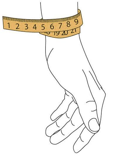 Jak vybrat správnou velikost náramku?
